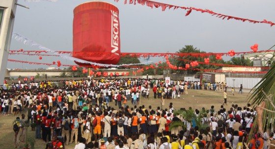 Nescafé Hot Air Balloon Arrives in Côte d'Ivoire